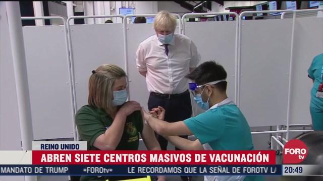 Reino Unido abre siete centros de vacunación masiva