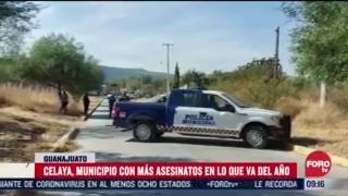 al menos 58 personas han sido asesinadas en guanajuato