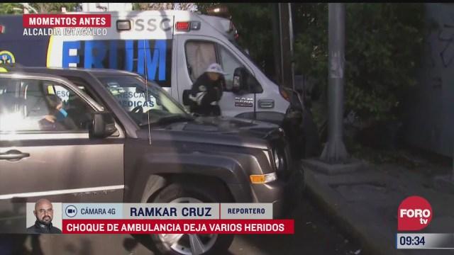 ambulancia choca y deja 4 heridos en cdmx