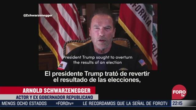 arnold schwarzenegger llama a trump el peor presidente de la historia