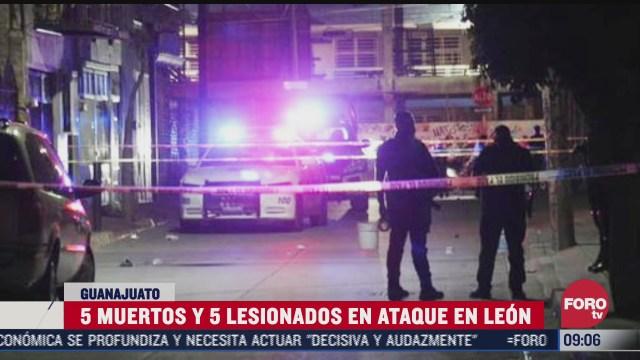 asesinan a cinco personas en un domicilio en leon guanajuato