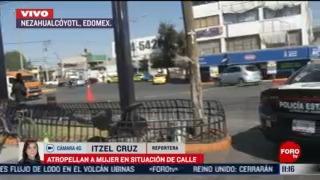 atropellan a mujer en situacion de calle en avenida pantitlan