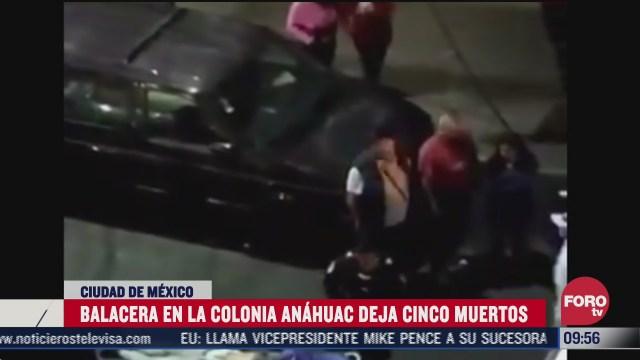 balacera deja 5 muertos en la colonia anahuac cdmx