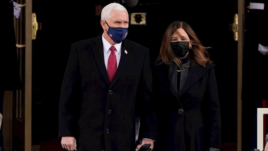el presidente electo Joe Biden arribó al Capitolio para la ceremonia de su investidura