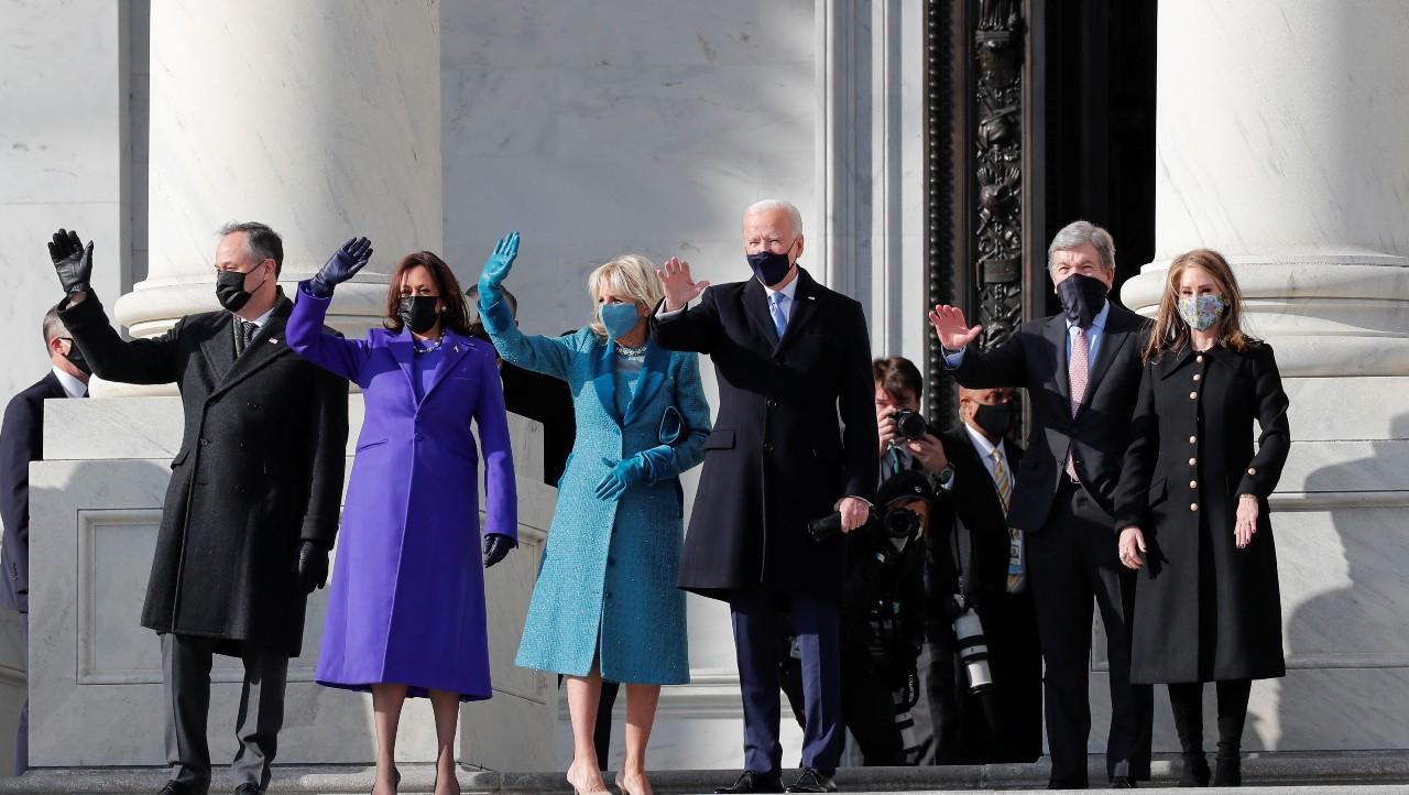 Joe Biden llega al Capitolio
