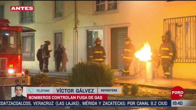 bomberos controlan fuga de gas en la colonia guerrero en cdmx