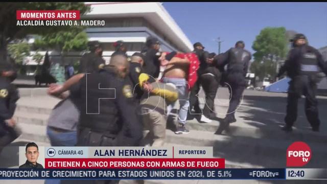 cinco detenidos con armas de fuego en la cdmx