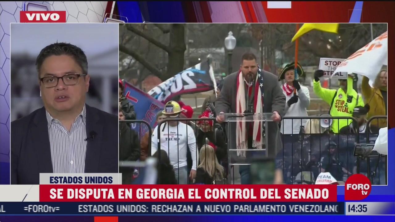 continua disputa por el control del senado en georgia