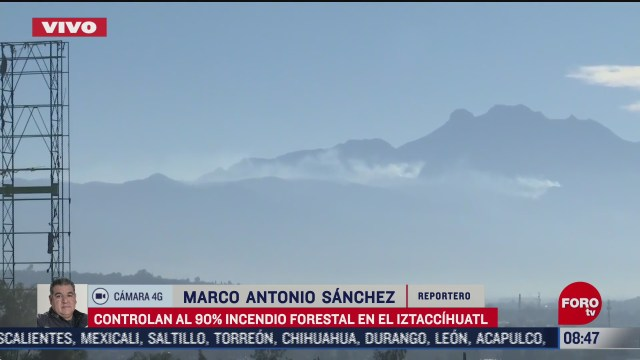 controlan al 90 incendio forestal en el volcan iztaccihuatl edomex
