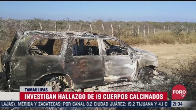 cuerpos calcinados en tamaulipas corresponderian a 13 migrantes guatemaltecos