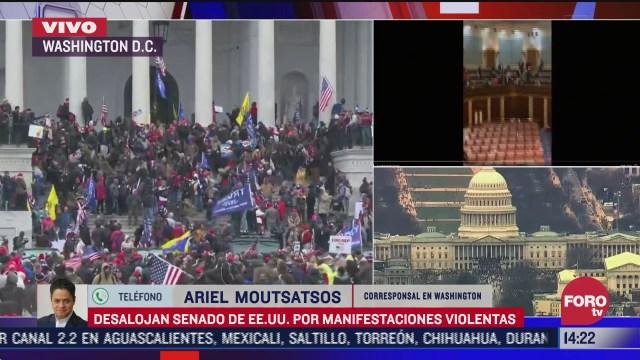 desalojan el senado de estados unidos tras presencia de manifestantes