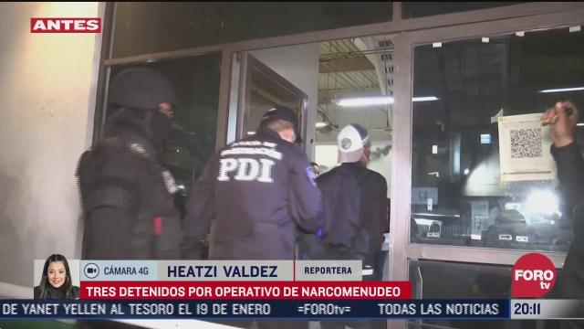 detienen a tres presuntos narcomenudistas en cdmx