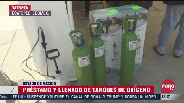 ecatepec realiza prestamo y llenado de tanques de oxigeno