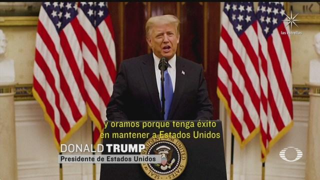 el presidente trump destaca sus logros durante su ultimo mensaje
