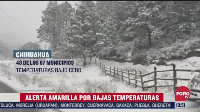 emiten alerta amarilla por temperaturas congelantes en chihuahua