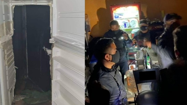 Clausuran bar en Pachuca con acceso por refrigerador falso