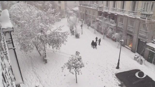espana se recupera de efectos de la tormenta de nieve filomena