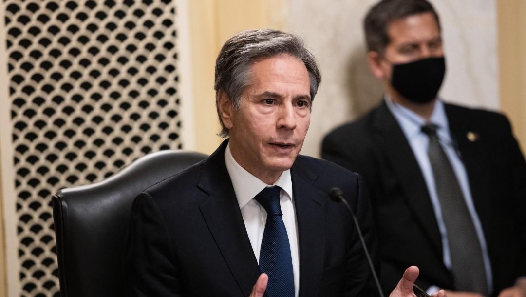 Antony Blinken testifica en la audiencia del Senado (Getty Images)