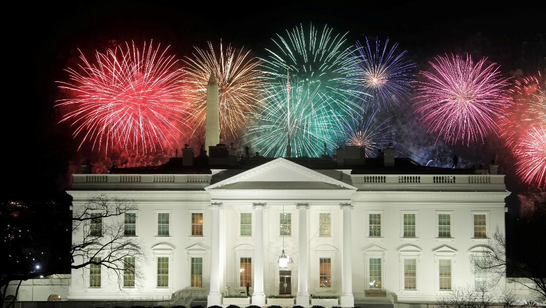Estrellas y fuegos artificiales en concierto para Biden, sin público.