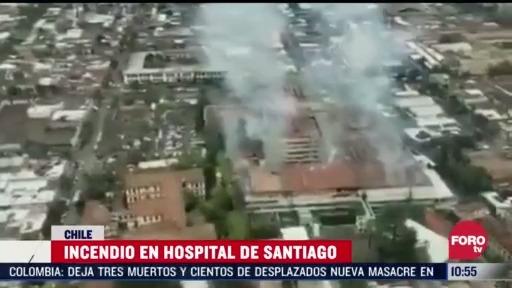 evacuan a pacientes con covid 19 tras incendio en hospital en chile