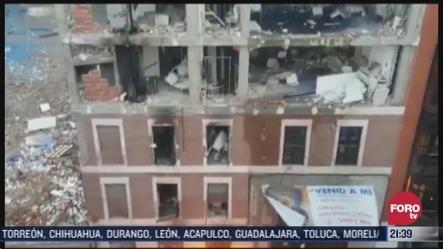 explosion en edificio de espana deja tres muertos y once heridos