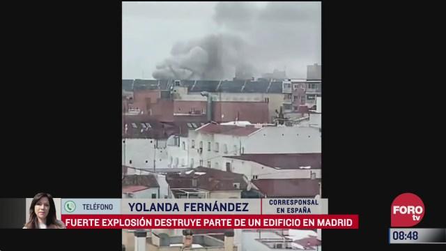explosion en edificio de madrid deja heridos