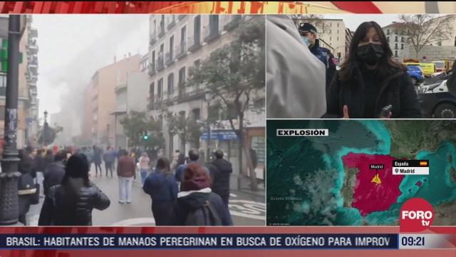 explosion en madrid fue presuntamente por fuga de gas hay varios muertos