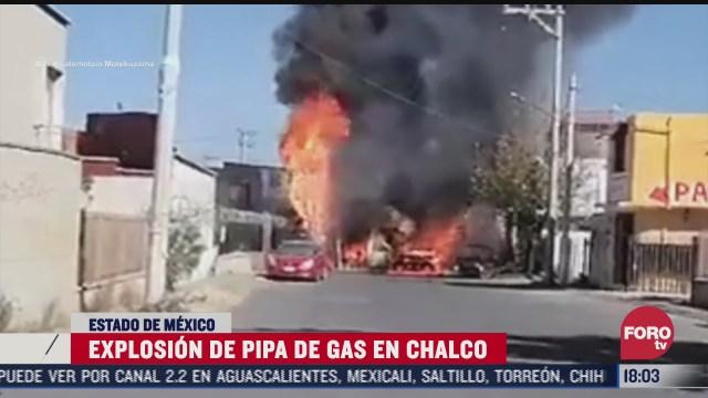 explota pipa de gas en chalco edomex