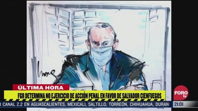 Salvador Cienfuegos, en libertad, FGR no ejercerá acción penal en su contra