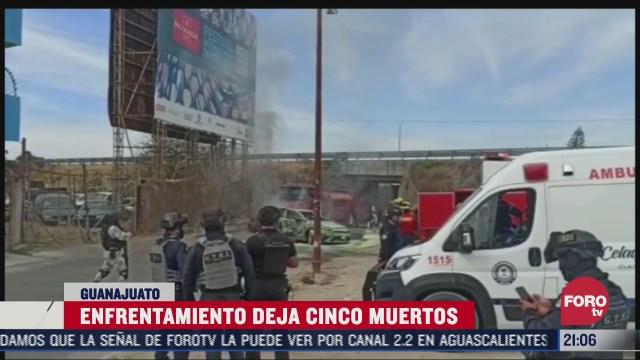 fiscalia de guanajuato investiga en enfrentamiento que dejo cinco muertos