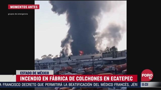 impresionantes imagenes del incendio en fabrica de colchones de ecatepec