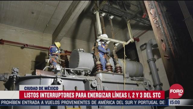instalan interruptores para energizar lineas 12 y 3 del metro