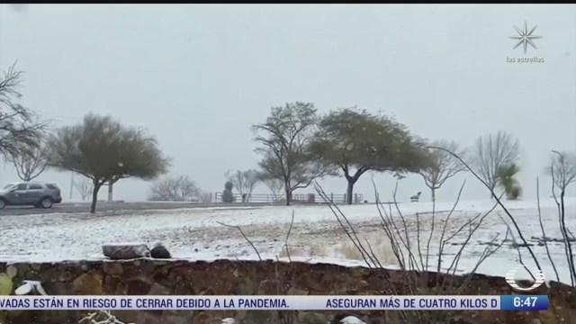 intensas nevadas en sonora temperaturas de menos 13 grados