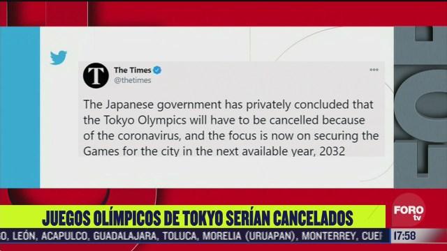 juegos olimpicos de japon 2020 podrian cancelarse times