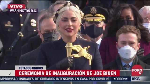 lady gaga entona el himno nacional de eeuu