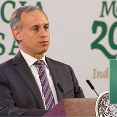 El subsecretario de Prevención y Promoción de la Salud, Hugo López-Gatell, en conferencia de prensa matutina.