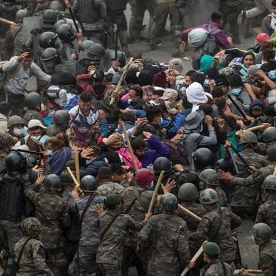 Fuerzas de seguridad de Guatemala detuvieron y reprendieron violentamente a una caravana migrante