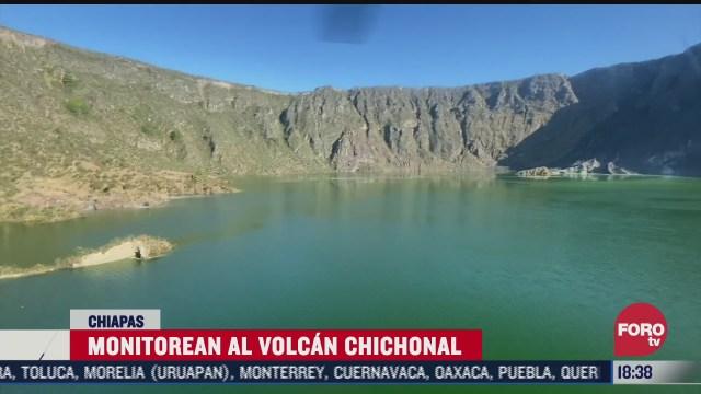 monitorean al volcan chichonal tras actividad sismica