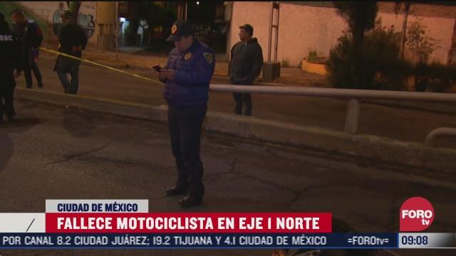 muere motociclista tras accidentarse en el distribuidor vial cdmx