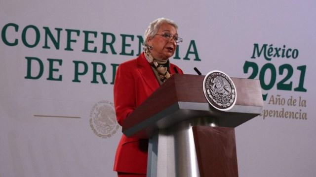 Olga Sánchez Cordero sustituye al presidente López Obrador