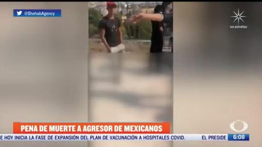 pena de muerte a agresor de mexicanos en jordania