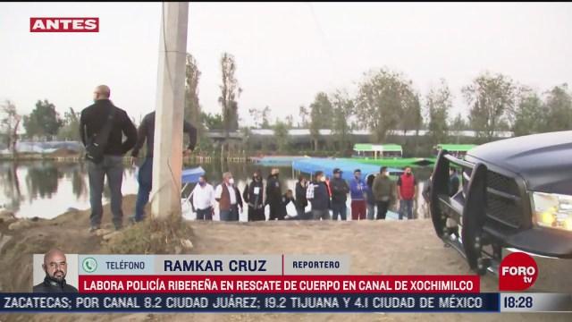 policia capitalina rescata cuerpo en canales de xochimilco