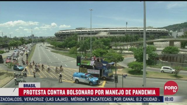protestan contra bolsonaro por manejo de pandemia de covid