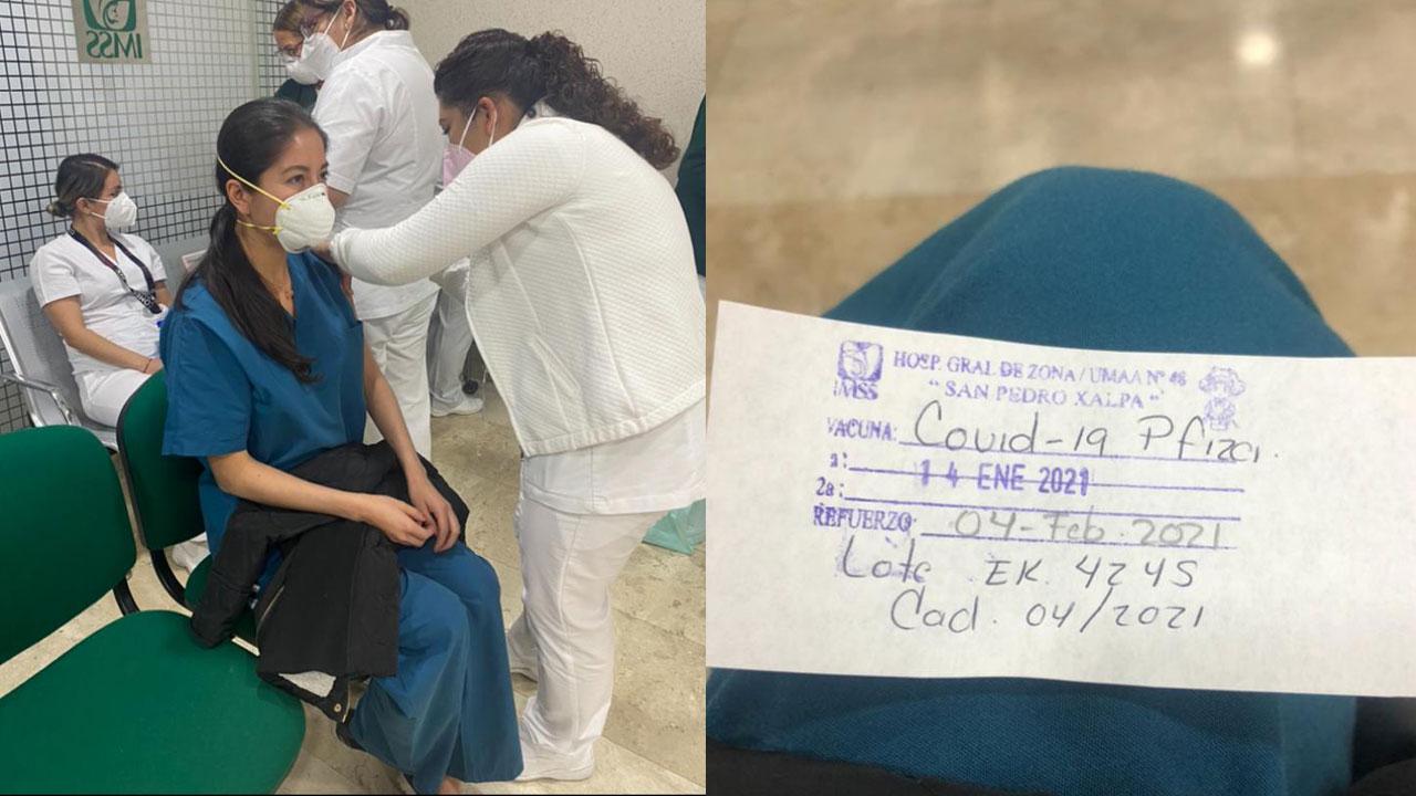 Elena Cedillo, doctora del IMSS, contó para Noticieros Televisa su experiencia tras recibir la vacuna contra COVID-19