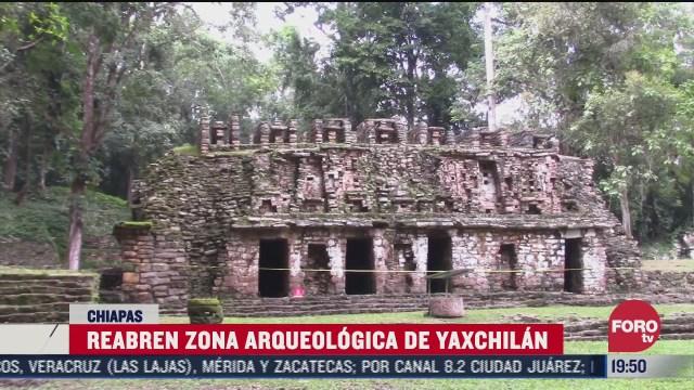 reabren zona arqueologica de yaxchilan chiapas