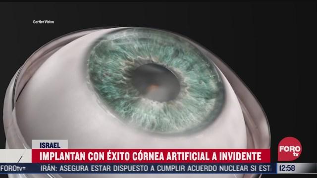 recupera la vista gracias a corneas artificiales