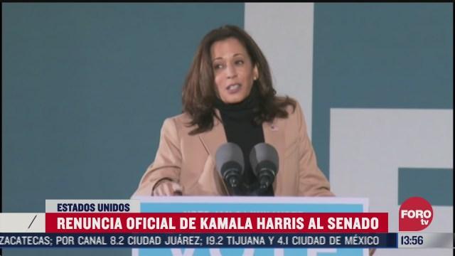 renuncia kamala harris como senadora