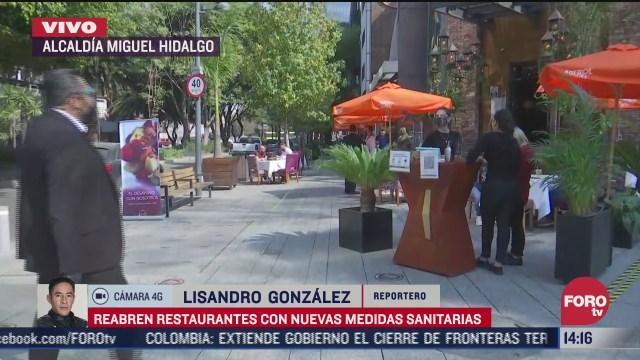 restaurantes de la miguel hidalgo siguen medidas de seguridad tras reapertura por covid