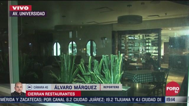 restaurantes sin terrazas permanecen cerrados en la cdmx