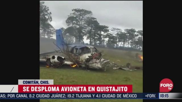 se desploma avioneta en comitan chiapas